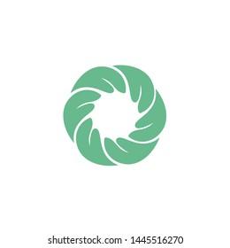 Nature holding a circular hand logo tamplate.