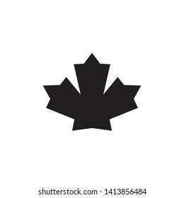 Nature icon : maple leaf design trendy