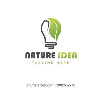 nature idea logo design nature creative logo design