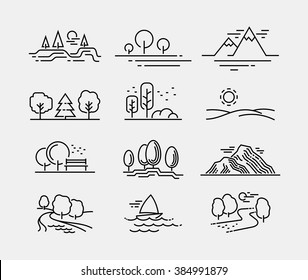 Nature Landscape Icons