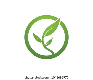 Nature leaf icon sign logos