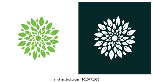 nature leaf logo, environment logo , ecology logo template designs