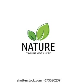 nature leaf logo icon vector template