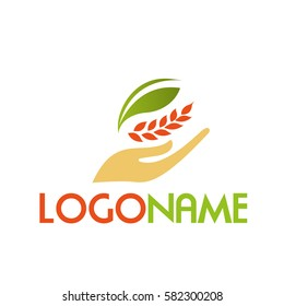 Nature logo with wheat