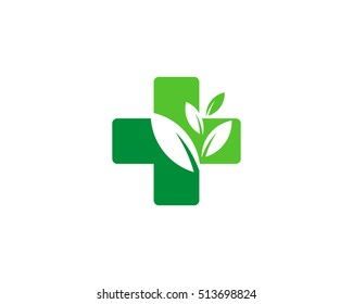 Nature Medical Logo Design Template Element