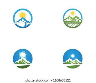 Nature mountain logo vector template