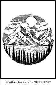 Nature Mountain vector illustration