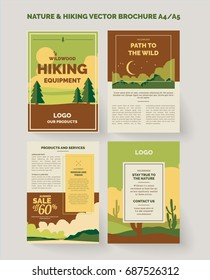 Nature and outdoors vector design template a4 or a5 size for brochure and flyer