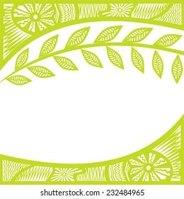 Nature pattern card branch vector illustration