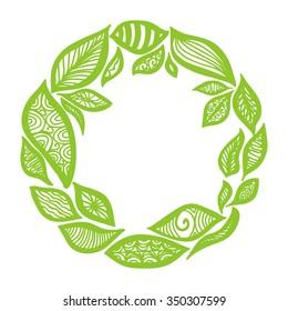 Nature pattern frame vector illustration