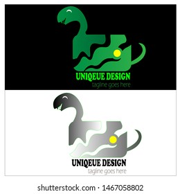 Nature photography logo design. Camera pet of snake logo design element with green color. Lens photographer logo icon vector template.