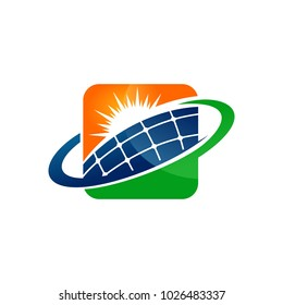 Nature Solar Energy Logo Template