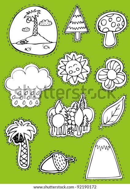 Nature Sticker Set