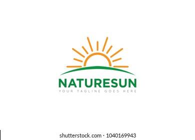 Nature sun logo and sun icon Vector design Template. Vector Illustrator Eps.10