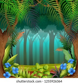 A nature theme template illustration