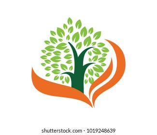 Nature Tree Logo Template Design Vector, Emblem, Design Concept, Creative Symbol, Icon