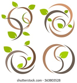 Nature tree symbol in ecology world concept illustration