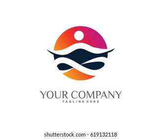 Nature Yoga Logo Template Design