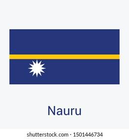 Nauru Flag Of  Isolated on background. Nauru  National Flag Symbol Vector Illustration