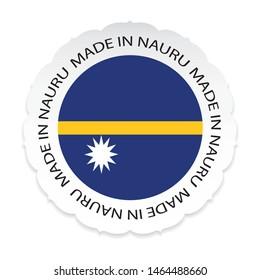 Nauru Flag .Nauru national official colors, Made in Nauru a white background.Vector