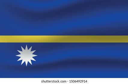 Nauru flag. Simple vector. National flag of Nauru