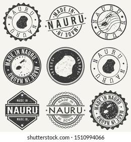 Nauru Island Travel Stamp Made In Product Stamp Logo Icon Symbol Design Insignia.
