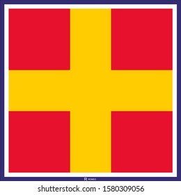 Nautical Alphabet, International Maritime Signal Flags. Vector drawing related to maritime.