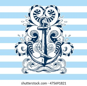 Nautical card motive
