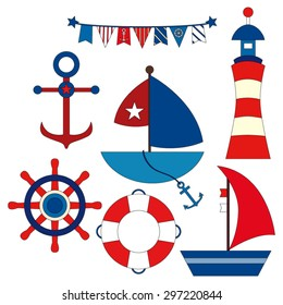 Nautical. Cute vector.