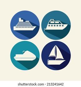 Nautical design over beige background,vector illustration
