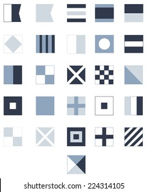 Nautical Flags - Navy Blue
