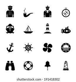 Nautical icon collection