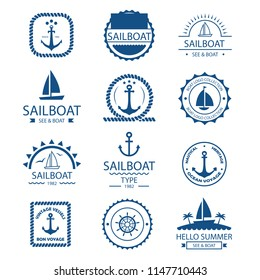 Nautical Icons for Business Sign