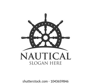 nautical navy cruise vector logo design