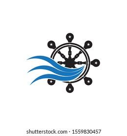 Nautical Navy Cruise vector logo design, Icon , Symbol illustration