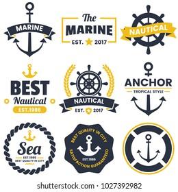 nautical Retro Vector Logo for banner, poster, flyer