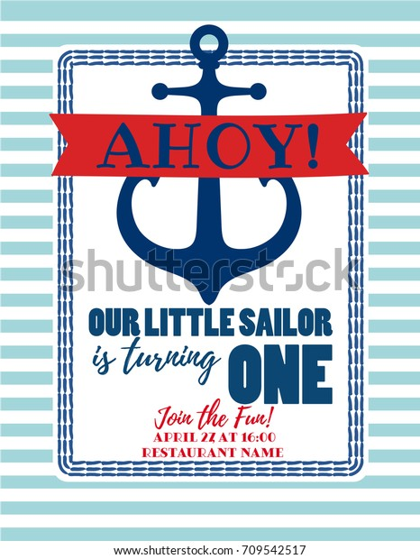 photograph regarding Printable Anchor Template identify Nautical Sailor Concept Printable Little one Birthday Inventory Vector