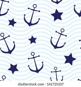 Nautical seamless background
