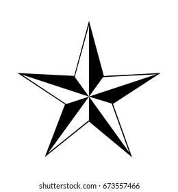 Nautical Star. No background