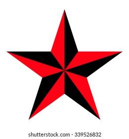 Nautical star . Vector illustration