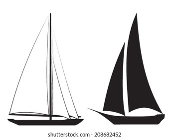 Nautical symbols and icons (two sailboats)