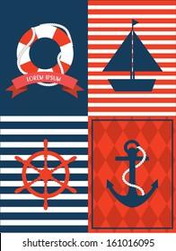 nautical template vector.illustration