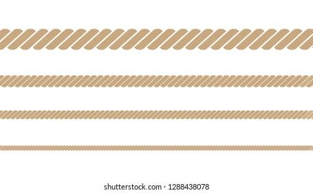 Nautical twisted rope, set 4 sizes