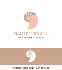 Nautilus shell logo for business, organization or website