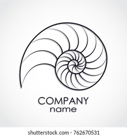 nautilus shell spiral shape logo
