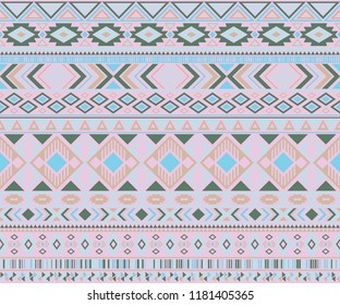 Navajo american indian pattern tribal ethnic motifs geometric vector background. Cute native american tribal motifs textile print ethnic traditional design. Navajo symbols textile pattern.