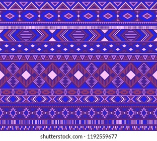 Navajo american indian pattern tribal ethnic motifs geometric vector background. Impressive native american tribal motifs clothing fabric ethnic traditional design. Navajo symbols clothes print.