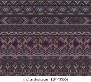 Navajo american indian pattern tribal ethnic motifs geometric seamless background. Impressive native american tribal motifs textile print ethnic traditional design. Navajo symbols fabric pattern.