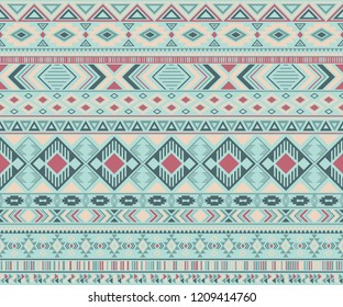 Navajo american indian pattern tribal ethnic motifs geometric vector background. Bohemian native american tribal motifs clothing fabric ethnic traditional design. Navajo symbols clothes pattern.
