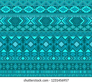 Navajo american indian pattern tribal ethnic motifs geometric seamless background. Abstract native american tribal motifs clothing fabric ethnic traditional design. Navajo symbols textile pattern.
